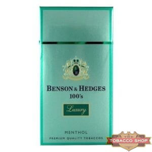 Пачка сигарет Benson & Hedges 100's Menthol Luxury USA