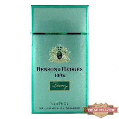 Пачка сигарет Benson & Hedges 100's Menthol Luxury USA