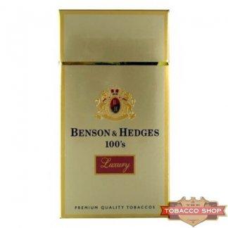 Пачка сигарет Benson & Hedges 100's Luxury Soft USA (1 пачка)