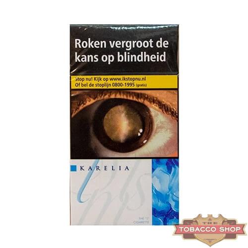 Пачка сигарет Karelia Slims Blue Duty Free - новый дизайн