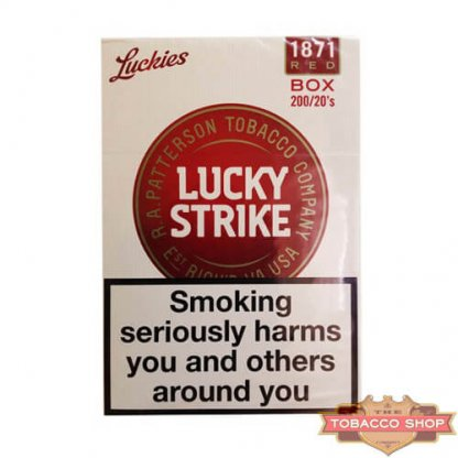 Блок сигарет Lucky Strike Luckies Red (50 пачек) Duty Free