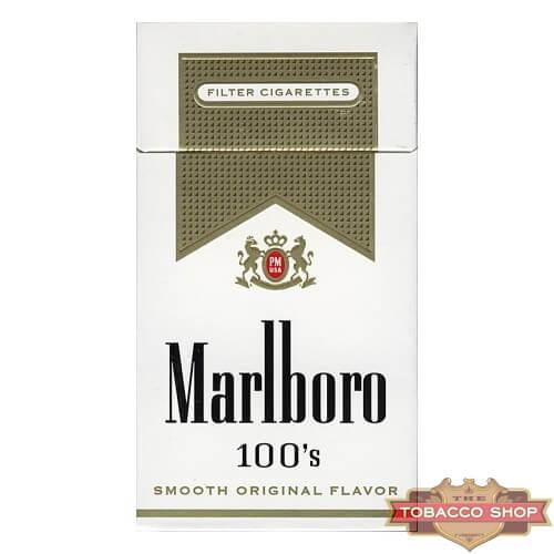Пачка сигарет Marlboro Gold 100's USA (DUTY FREE)
