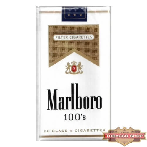 Пачка сигарет Marlboro Gold 100's Soft USA