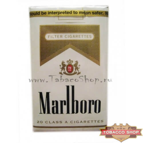 Пачка сигарет Marlboro Gold Soft USA