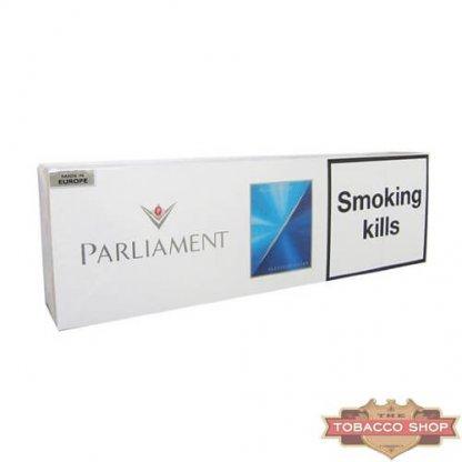 Блок сигарет Parliament Aqua Blue Duty Free