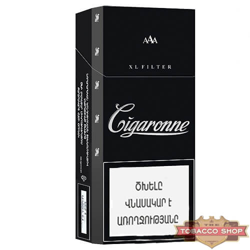 Пачка сигарет Сigaronne XL Filter Black 120mm