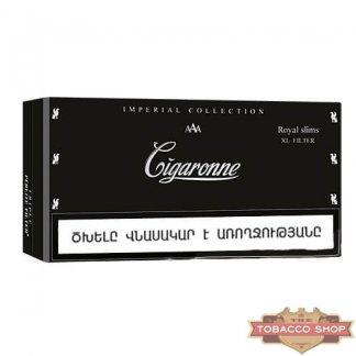 Пачка сигарет Cigaronne Royal Slims XL Filter Black 120mm