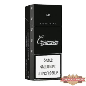 Пачка сигарет Сigaronne Super Slims Black
