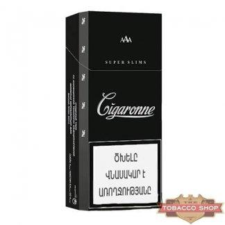 Пачка сигарет Cigaronne Super Slims Black