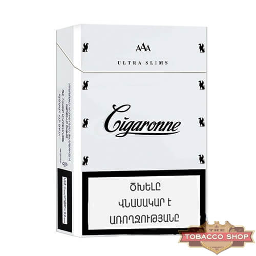 Пачка сигарет Сigaronne Ultra Slims White