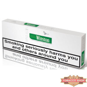Блок сигарет Winston SuperSlims Menthol (50 пачек) Duty Free