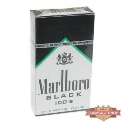 Пачка сигарет Marlboro Menthol Black 100's USA