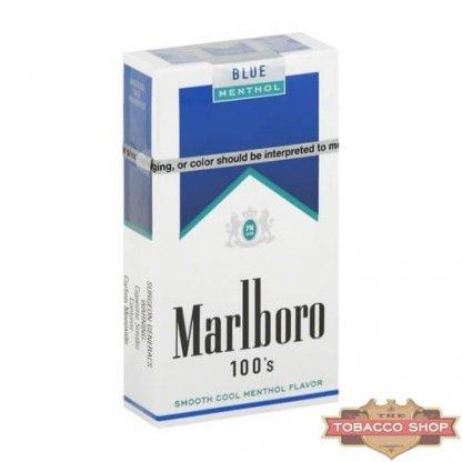 Пачка сигарет Marlboro Menthol Blue 100's USA