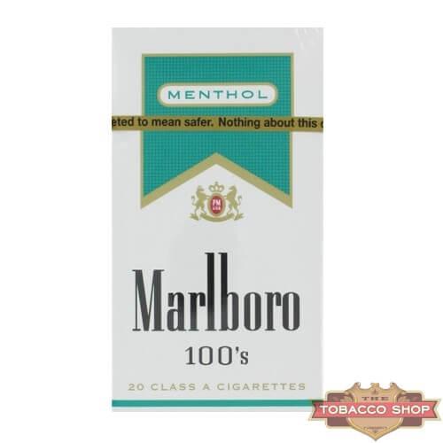 Пачка сигарет Marlboro Menthol Gold 100's USA