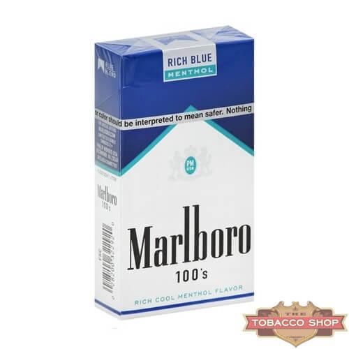 Пачка сигарет Marlboro Menthol Rich Blue 100's USA