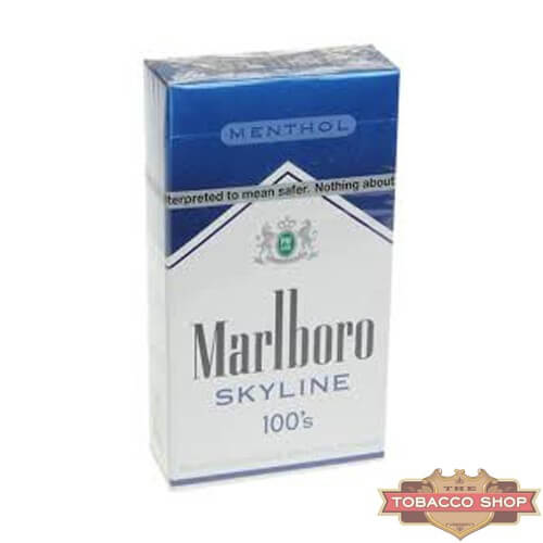 Пачка сигарет Marlboro Menthol Skyline 100's USA