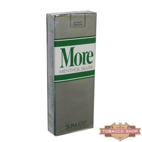 Пачка сигарет More Silver Menthol 120's USA
