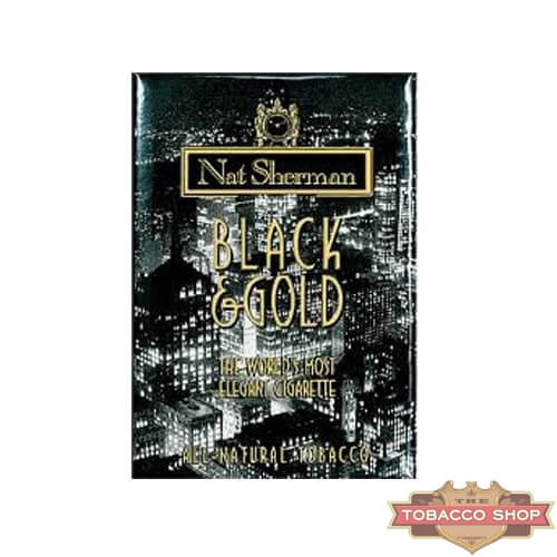 Пачка сигарет Nat Sherman Black & Gold USA