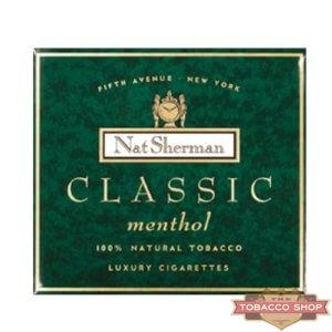 Пачка сигарет Nat Sherman Classic Menthol USA