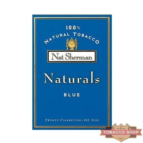 Пачка сигарет Nat Sherman Naturals Blue USA