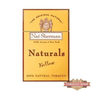 Пачка сигарет Nat Sherman Naturals Yellow USA