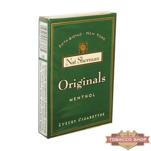 Пачка сигарет Nat Sherman Originals Menthol USA