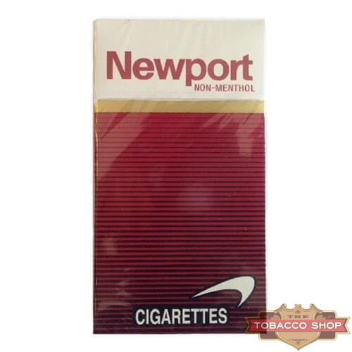 Пачка сигарет Newport Non-Menthol Red 100's USA