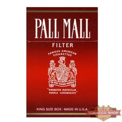Пачка сигарет Pall Mall Red USA