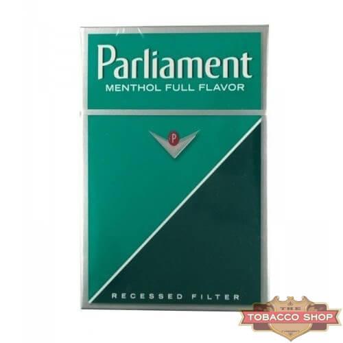 Пачка сигарет Parliament Menthol USA