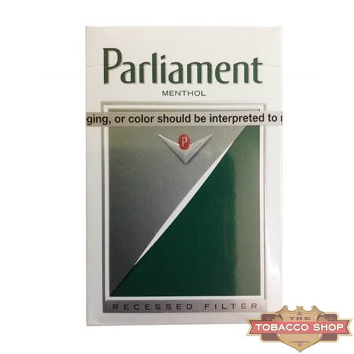 Пачка сигарет Parlament Menthol Silver USA