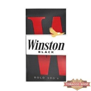 Пачка сигарет Winston Black 100's USA