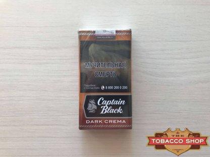 Живое фото пачки сигарилл Captain Black Dark Crema RUS