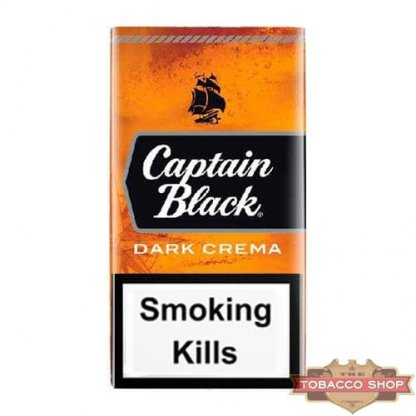 Пачка сигарилл Captain Black Dark Crema USA - новый дизайн