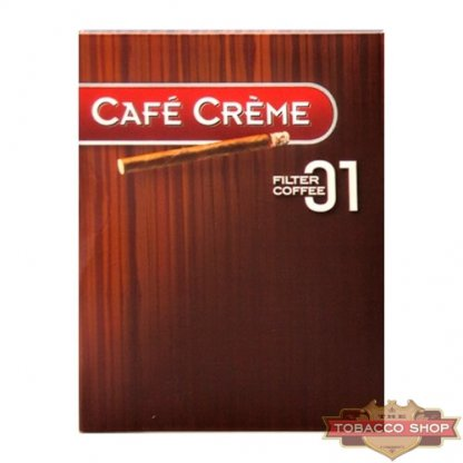 Пачка сигарилл Cafe Creme Filter 01 Coffee 8 cigars Duty Free