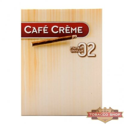 Пачка сигарилл Cafe Creme Filter 02 Vanilla 8 cigars Duty Free