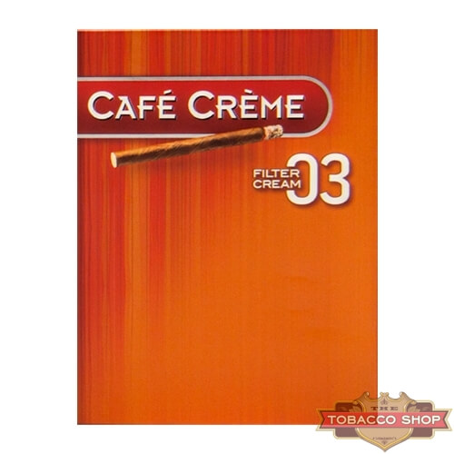 Пачка сигарилл Cafe Creme Filter 03 Cream 8 cigars Duty Free