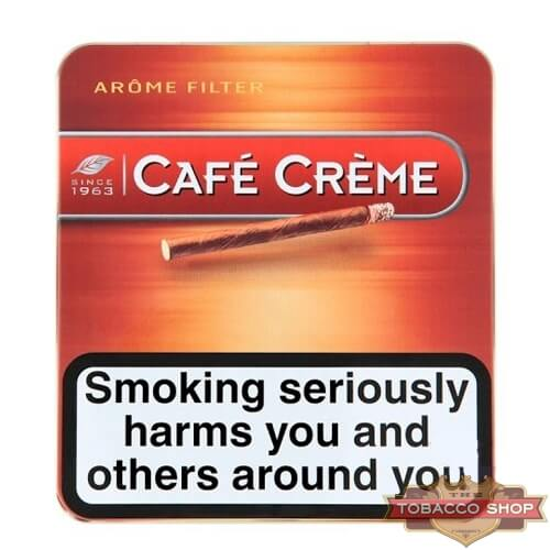 Пачка сигарилл Cafe Creme Filter Arome 10 cigars Duty Free