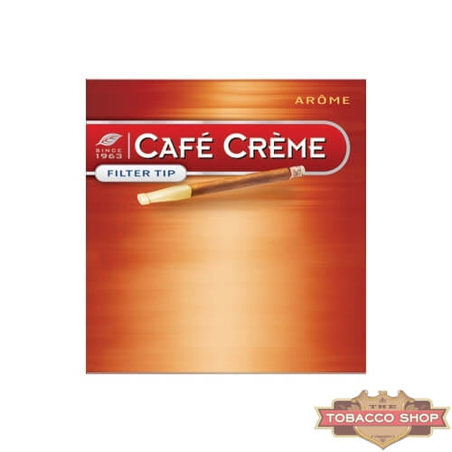 Пачка сигарилл Cafe Creme Filter Tip Arome 10 cigars Duty Free
