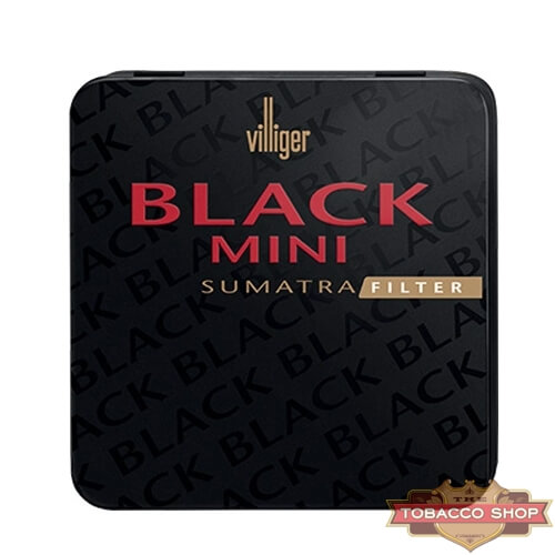 Пачка сигарилл Villiger Mini Black Sumatra Filter Duty Free