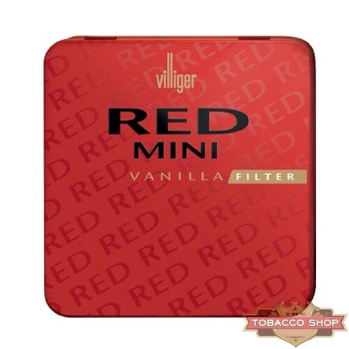 Пачка сигарилл Villiger Mini Red Vanilla Filter Duty Free