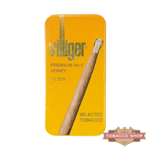 Пачка сигарилл Villiger Premium No 6 Honey Duty Free
