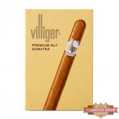 Пачка сигарилл Villiger Premium No 7 Sumatra Duty Free
