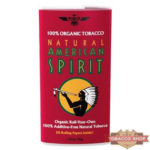 Пачка табака для самокруток American Spirit 100% Organic Blend (Red) USA 40g
