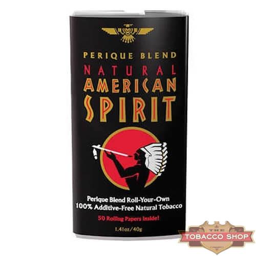 Пачка табака для самокруток American Spirit Perique (Black) USA 40g