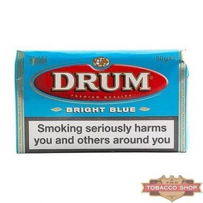 Пачка табака для самокруток DRUM Bright Blue 50g Duty Free