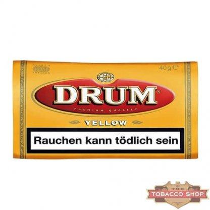 Пачка табака для самокруток DRUM Yellow 40g Duty Free