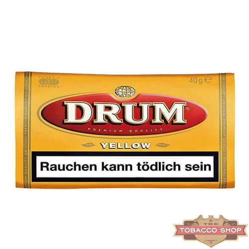 Пачка табака для самокруток DRUM Yellow 40g Duty Free