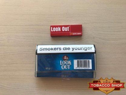 Живое фото пачки табака для самокруток Look Out Holland Classic 50g Duty Free