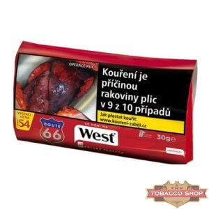 Пачка табака для самокруток West Red 30g Duty Free